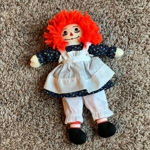 """Handmade Raggedy Ann doll 12"""""""